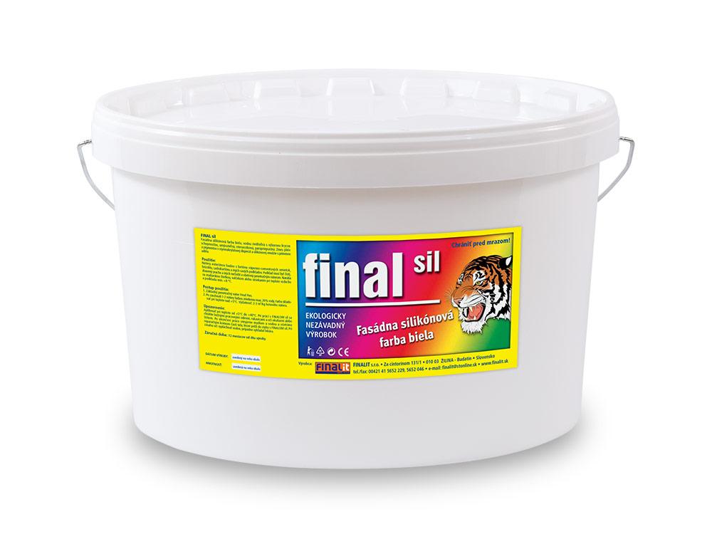 Fasádna silikónová farba Final SIL