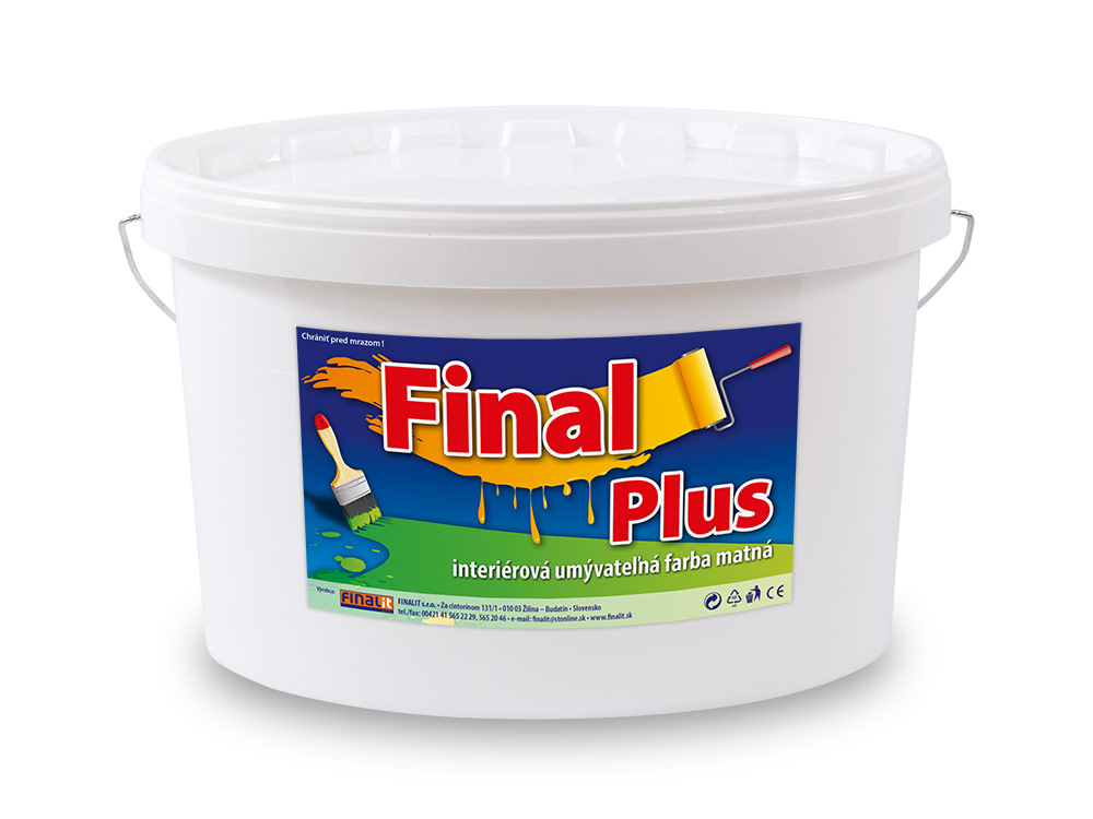 Interiérová umývateľná farba Final Plus